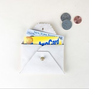 White Leather Credit Card Holder